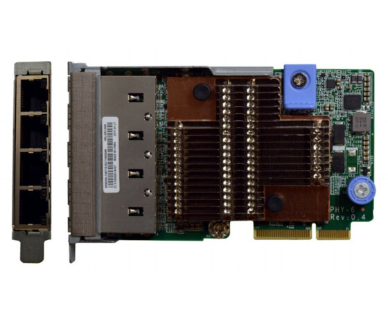 Lenovo ThinkSystem - Netzwerkadapter - LAN-on-motherboard (LOM) - Gigabit Ethernet x 4 - für ThinkAgile VX 1U Certified Node 7Y93; ThinkSystem SR630; SR650; SR850; SR860; SR950