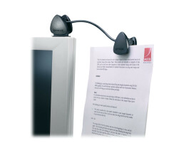 Kensington Flex Clip Copyholder - Black - 1 pc(s) - 70 g - 260 mm - 35 mm - 132 mm