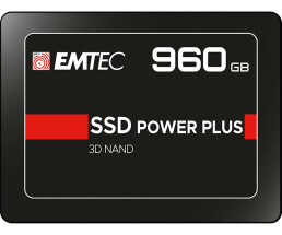 "EMTEC X150 Power Plus 3D NAND - 960 GB SSD - intern - 2.5"" (6.4 cm) - SATA 6Gb/s"
