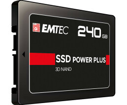 "EMTEC X150 Power Plus 3D NAND - 240 GB SSD - intern - 2.5"" (6.4 cm) - SATA 6Gb/s"