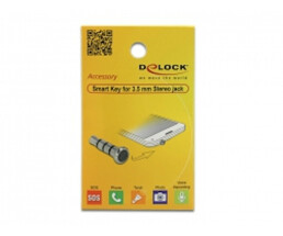 Delock Smart Key - 5.5 mm - 16 mm - 5.5 mm - Metal - Black,Silver
