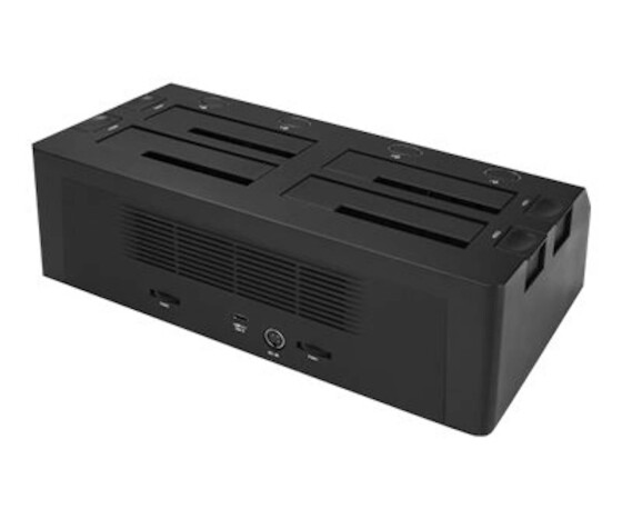 """StarTech.com 4-Bay SATA HDD Docking Station - For 2.5""""/3.5"""" SSDs/HDDs - USB 3.1 (10Gbps) - HDD,SSD - Serial ATA,Serial ATA II,Serial ATA III - 2.5,3.5"""" - 10 TB - USB 3.1 (3.1 Gen 2) Type-C - 10 Gbit/s"""