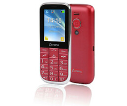 "Olympia Joy II - Bar - Dual SIM - 6.1 cm (2.4"") - Bluetooth - 600 mAh - Red"