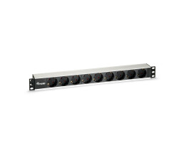 equip 9-Outlet German Power Distribution Unit - Aluminum...