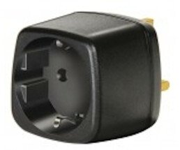 Brennenstuhl Travel Adapter earthed/GB - Black - 7.5 A
