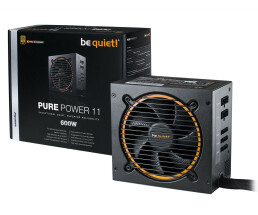 Be Quiet! Pure Power 11 600W CM - 600 W - 100 - 240 V - 650 W - 50 - 60 Hz - 8 A - Active