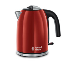 Russell Hobbs Colors Plus + Flame Red Kettle - Rapid boil...