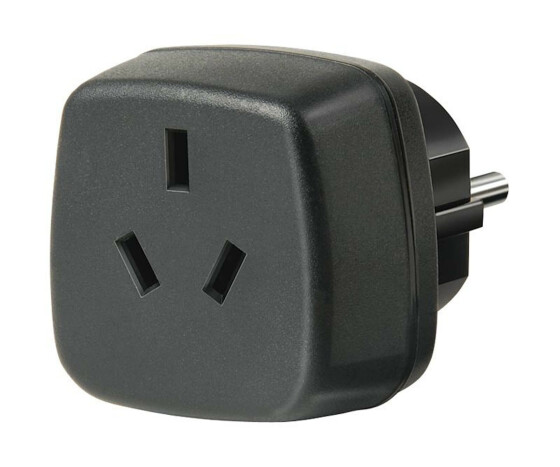 Brennenstuhl Travel Adapter Australia - China/earthed - Black