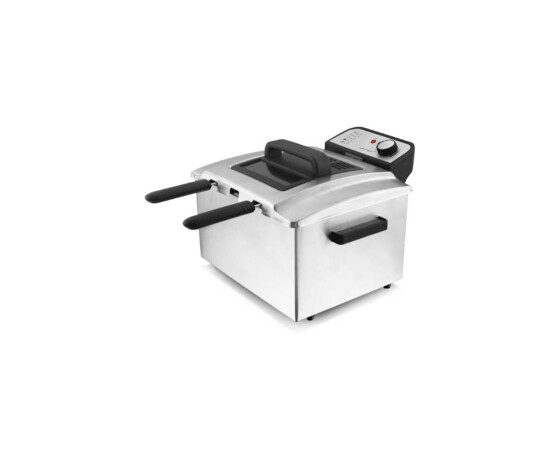 Emerio DF-106187 - Deep fryer - 5 L - Double - Black,Stainless steel - Rotary - Stand-alone