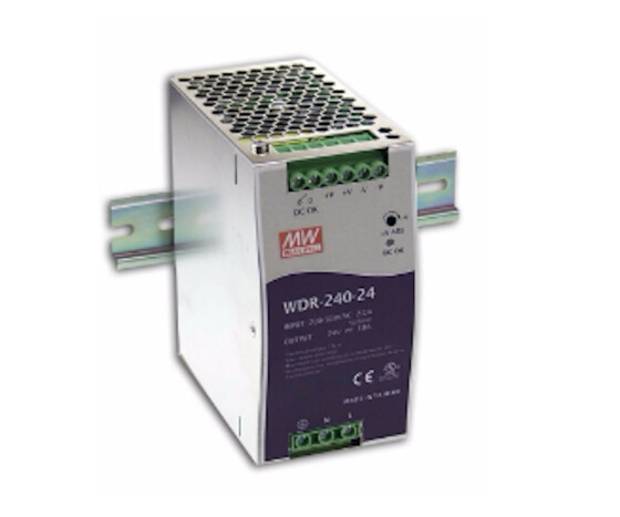 Meanwell MW WDR-240-24 - switching power supply DIN rail 240 W 24 V 10 A - 24 V - 10A