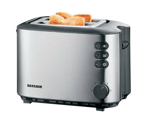 SEVERIN AT 2514 - Toaster - elektrisch - 2 Scheibe - Black/Brushed Stainless Steel