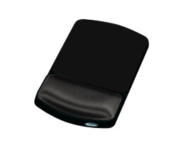 Fellowes Angle Adjustable Mouse Pad Wrist Support Premium Gel - Graphite - Monotone - Polyester - Wrist rest