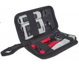 Intellinet 4-Piece Network Tool Kit - 4 Tool Network Kit Composed of LAN Tester - LSA punch down tool - Crimping Tool and Cut and Stripping tool - 100 x 29 x 105 mm - 144 g
