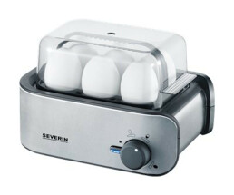 SEVERIN EK 3134 Egg Boiler stainless steel black - 400 W - 1-6 eggs