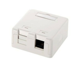 equip 2-Port Keystone Jack Surface Mount Box - 65 mm - 63...