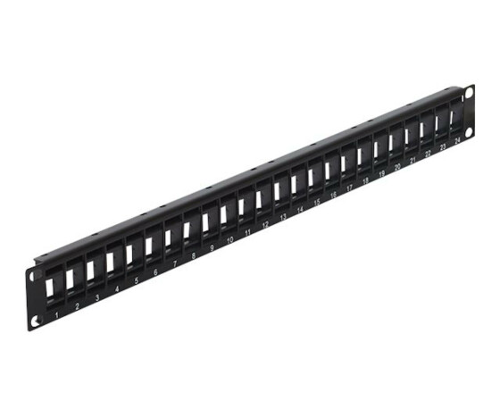 Delock 43340 - Black - Metal,Plastic - 44 mm - 11.5 mm - 482.6 mm - Box