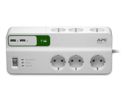 APC PM6U-GR - 1836 J - 6 AC outlet(s) - Type F - 230 V -...