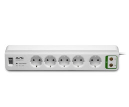 APC PM5V-GR - 918 J - 5 AC outlet(s) - Type F - 230 V - 2300 W - 24000 A