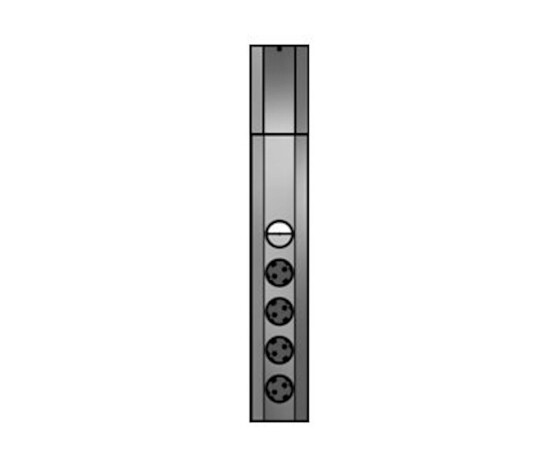 Bachmann 923.007 - 2 m - 4 AC outlet(s) - Indoor - Type F - Stainless steel - 1 pc(s)