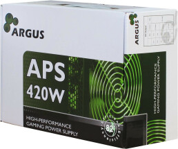 Inter-Tech Argus APS - 420 W - 115 - 230 V - 47 - 63 Hz - +12V1,+12V2,+3.3V,+5V,+5Vsb,-12V - Active - 103 W