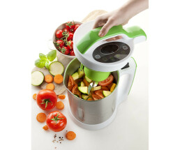 Domo DO499BL soup kettle 1.7 L stainless steel - white -...