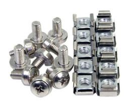 StarTech.com 100 Pkg M6 Mounting Screws and Cage Nuts for...