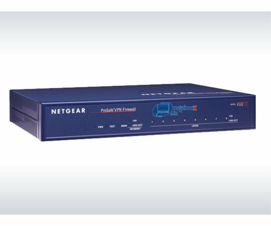 NETGEAR ProSafe VPN Firewall 50 FVS338 - Router - 8-Port-Switch - Gebraucht