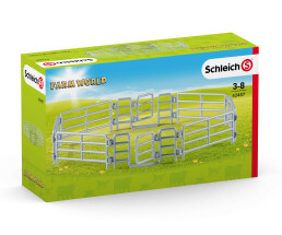 Schleich 42487 - Toy figure fence - Stainless steel - 3...