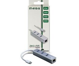 Argus IT-410-S - Hub - 3 x SuperSpeed USB 3.0 + 1 x...