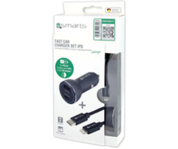 4smarts Fast Car Charger Set iPD - Auto-Netzteil - 30...