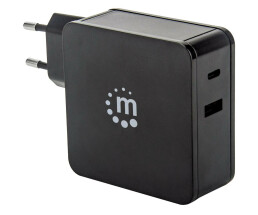 Manhattan Wall Charger (Euro 2pin) - 1x USB-C Port (up to...