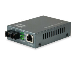 LevelOne RJ45 to SC Fast Ethernet Media Converter -...