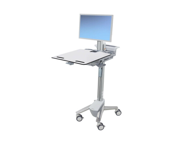 "Ergotron StyleView - Multimedia cart/trolley - Grey,Stainless steel - Flat panel - 15.9 kg - 61 cm (24"") - 90°"