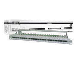 DIGITUS CAT 6A, Class EA Patch Panel, shielded
