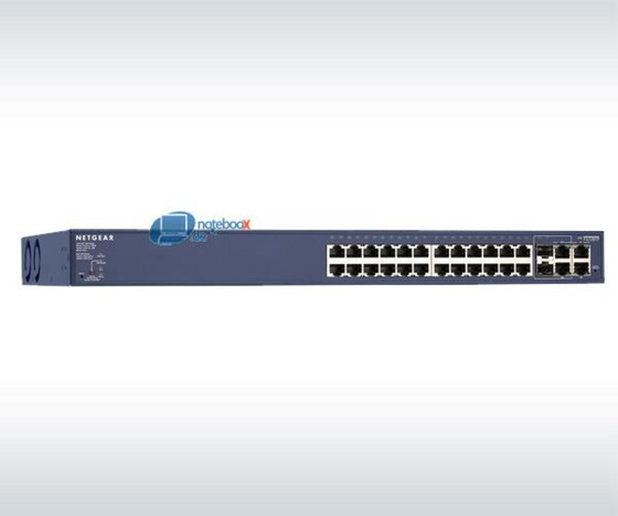 NETGEAR ProSafe 24 port-FS728TP Smart Switch with 4 Gigabit Ports and 24 PoE Ports - Used