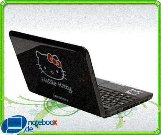 Medion AKOYA Mini E1211 Hello Kitty 25,4 cm 10 Netbook Intel Atom N270 1,6GHz, 1GB RAM, 160GB HDD Schwarz
