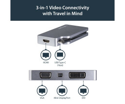 StarTech.com USB-C Video Adapter Multiport - Space Grau -...