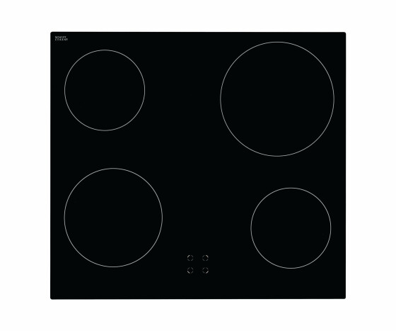 Amica EHC 12516 E - Ceramic - 4 zone(s) - Glass-ceramic - Black - 1700 W - Rotary