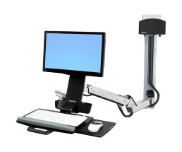 """Ergotron StyleView Sit-Stand Combo Extender - 43.2 cm (17"""") - 604 mm - 260 mm - 138 mm - 4.5 kg"""