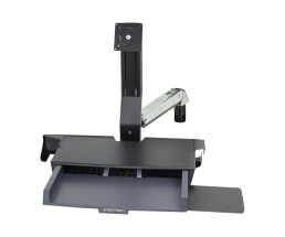 Ergotron StyleView Sit-Stand Combo Arm with Worksurface -...