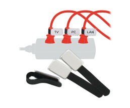 LTC Mini Tags - Wire / Cable Markers - 9cm - Black (Pack...
