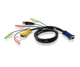ATEN 2L-5303U - Keyboard / Video / Mouse / Audio Cable -...