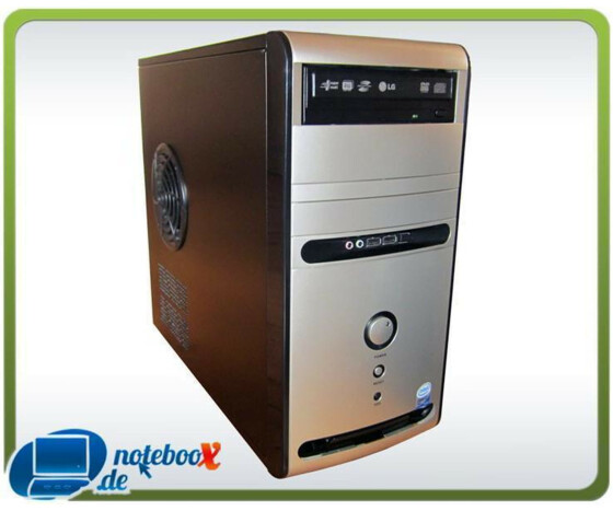 Office Tower PC - Core 2 Duo E6420 2.13GHz - 2GB RAM - 160GB HDD - DVD-RW - XP COA - Used