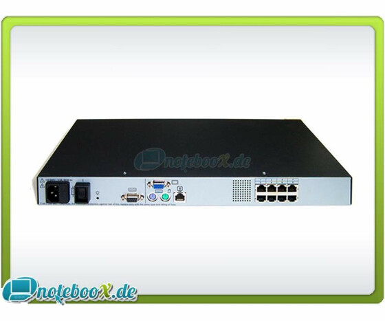 HP KVM Switch - 8 Port  Server Console - PS/2 VGA RJ45 - EO1013 - Gebraucht