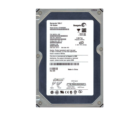 Seagate Barracuda ST3160023AS - 7200.7 - Festplatte -160...