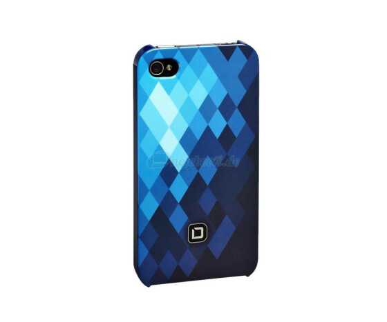 Dicota D30444 Hard Cover - iPhone4 / iPhone4S- Hartschale blau - Hard Cover Blue