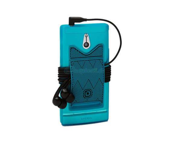 Dicota D30504 Flexi Case mit Cable Organiser - Sony Xperia  P - Hartschale blau - Hard Cover Blue