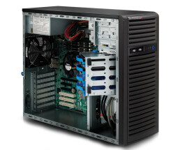 Supermicro 732I-500B Mid-Tower Black Workstation Case...