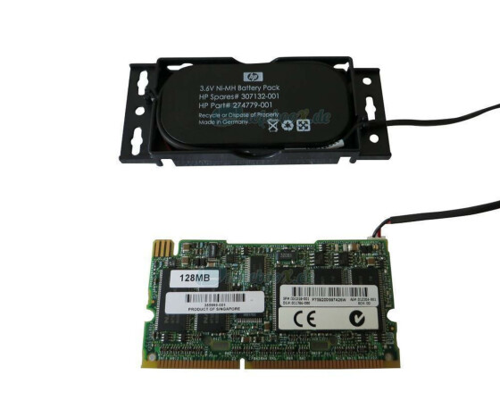 HP Battery Backed Write Cache Enabler Kit - HP 128MB BBWC...