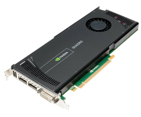 NVIDIA Quadro 4000 - Grafikadapter - Quadro 4000 - PCI Express 2.0 x16 - 2 GB GDDR5 - 38XNM